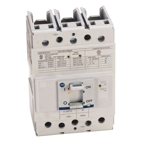 140G - Molded Case Circuit Breaker, I frame, 25 kA, T/M - Thermal Magnetic, Rated Current 150 A