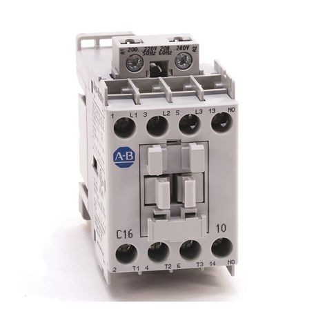 100-C IEC Contactor, 208-240V 60Hz, Screw Terminals, Line Side, 16A, 0 N.O. 1 N.C. Auxiliary Contact Configuration, Single Pack
