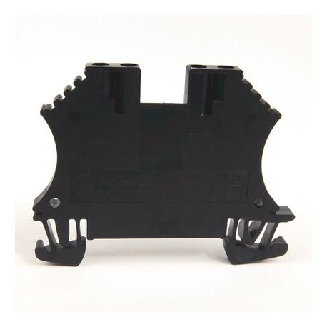 1492-J IEC Terminal Block, One-Circuit Feed-Through Block, 1.5 mm (# 22 AWG - # 16 AWG), 2 Connection points on each side, Black,