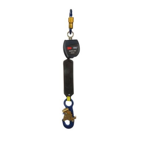 3M DBI-SALA Fall Protection Nano-Lok™ 3101214 Self-Retracting Single Leg Lifeline With Self-Locking Snap Hook and Carabiner, 420 lb Load Capacity, 6 ft L, Specifications Met: ANSI A10.32, ANSI Z359.1, ANSI Z359.14, OSHA 1910.66, OSHA 1926.502