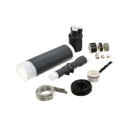 3M™ Quick-Term III™ 054007-43681 Medium Voltage Cold Shrink Termination Kit With High-K Stress Relief, For Use With Tape Shield, Wire Shield and UniShield® Power Cables, Silicone Rubber