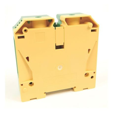 1492-J IEC Terminal Block, One-Circuit Feed-Through Ground Block, 10 mm (# 22 AWG - # 8 AWG), Standard Feedthrough, Green / Yellow Stripe (Standard),
