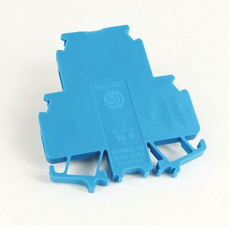 1492-H Finger-Safe Terminal Blocks, H-Block,Code 2,Blue,No Bulk Pack (Single Block)