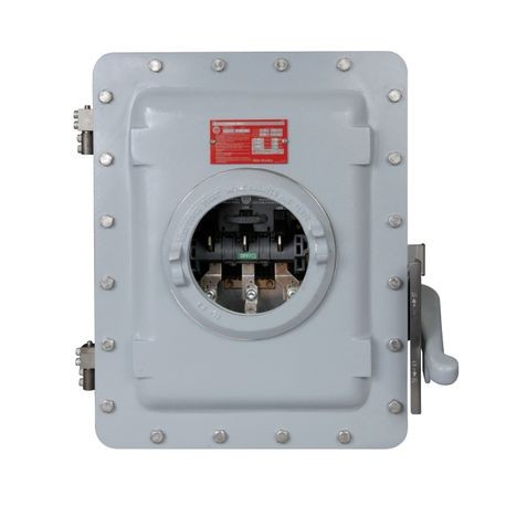 1494G Enclosed Disconnect Switch, Hazardous Location, 100 A switch rating for use in 30, 60, and 100 A applications, Type 3R, 7 & 9 bolted enclosure with breather and drain.For use in Class 1, Div. 1 & 2, Groups C & D and Class II, Groups E, F