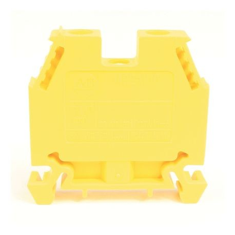 1492-W IEC Terminal Block, Space-Saver Feed-Through Blocks, 10 mm (# 22 AWG - # 8 AWG), Single-circuit terminal block, Yellow,