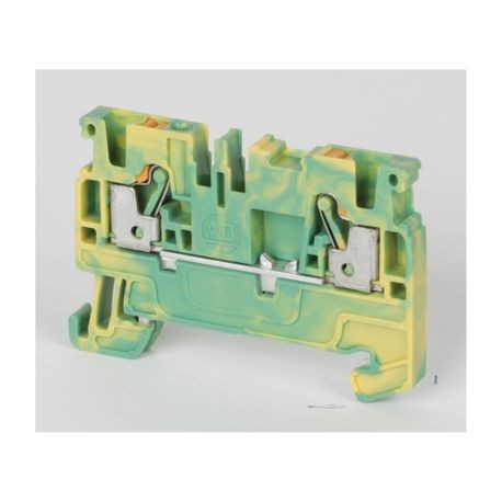 Allen-Bradley 1492-PG3 1-Circuit Feed-Through Terminal Block, 600 VAC/VDC, 28 to 12 AWG Wire, DIN Rail Mount