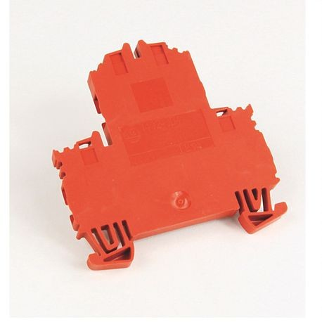 1492-J IEC Terminal Block, Two-Circuit Feed-Through Block, 4 mm (# 26 AWG - # 10 AWG), Standard Feedthrough, Red,
