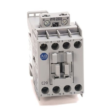 100L IEC Electrically Held Lighting Contactor, Open, 4 Pole, 240V 50Hz / 277V 60Hz
