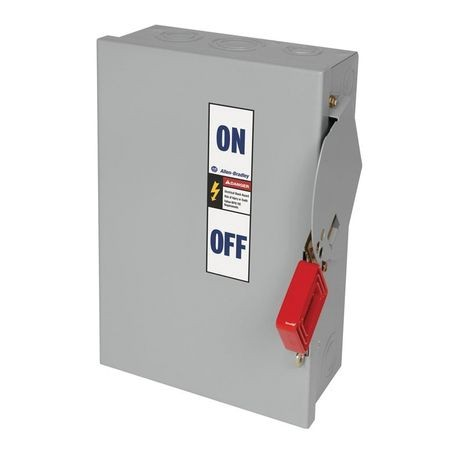 1494H Heavy Duty Safety Switch, 100A 600V AC Non-Fusible Disconnect Switch, Type 1 General Purpose Painted Metal Enclosure, Door Latch