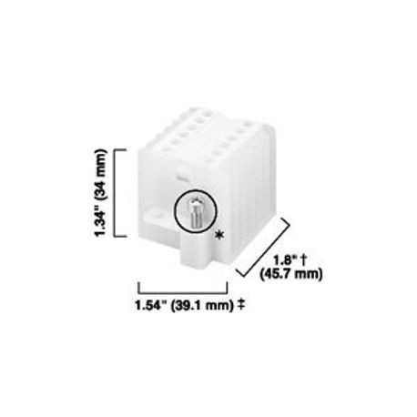 1492 Panel Mount Block, High-density 6-Pole