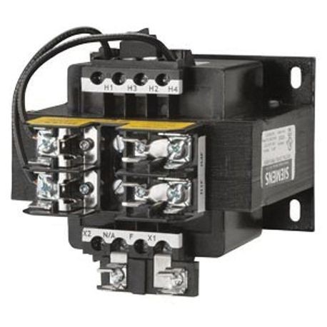 Siemens KTG200 Control Power Transformer, 208 VAC Primary, 24 VAC Secondary, 200 VA Power, 50/60 Hz Frequency, 1 Phase