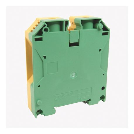 1492-J IEC Terminal Block, One-Circuit Feed-Through Ground Block, 70 mm (# 4 - # 3/0 AWG), Standard Feedthrough, Green / Yellow Stripe (Standard),