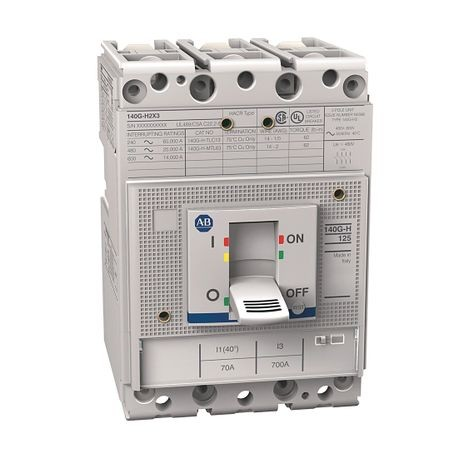 140G - Molded Case Circuit Breaker, H frame, 25 kA, T/M - Thermal Magnetic, Rated Current 70 A