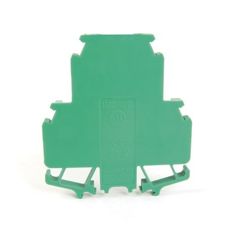 1492-H Finger-Safe Terminal Blocks, H-Block,Code 2,Green,No Bulk Pack (Single Block)