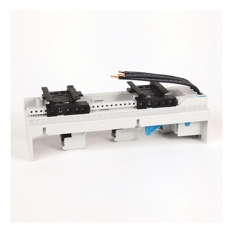 141A MCS Mounting System Adapter Modules, MCS Standard Busbar Module, 54mm x 200mm, 32 Amp, 2 MCS Specific Top Hat Rail