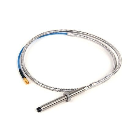 1442 Eddy Current Probe, Standard Mount Probe, 8 mm / 2 mm (80 mils) probe diameter, 90 mm body length, 1 Meter cable length, Armored Cable