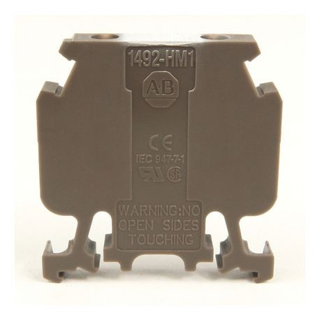 1492-H Finger-Safe Terminal Blocks, H-Block,Code 1,Green,No Bulk Pack (Single Block)