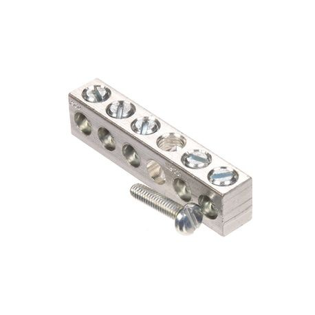 Siemens ECGB5 Ground Bar Kit, 12.8 in L, 14 to 4 AWG Aluminum/Copper Conductor, 5 Terminals, For Use With: Legacy Loadcenter