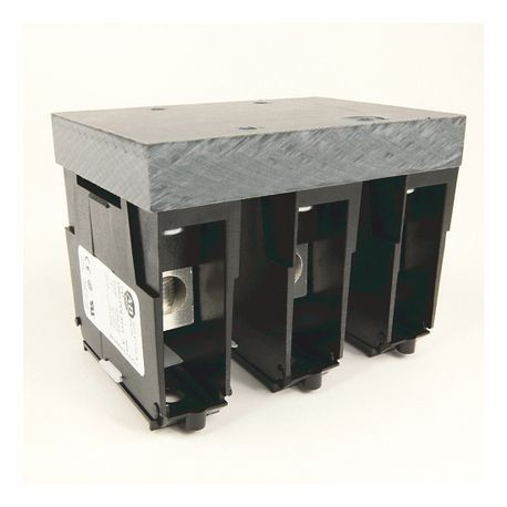 1492 Power Block, Feeder Spacing Power Distribution Block, 3-Pole, 1 Opening Line Side, 12 Openings Load Side, 335 Amps