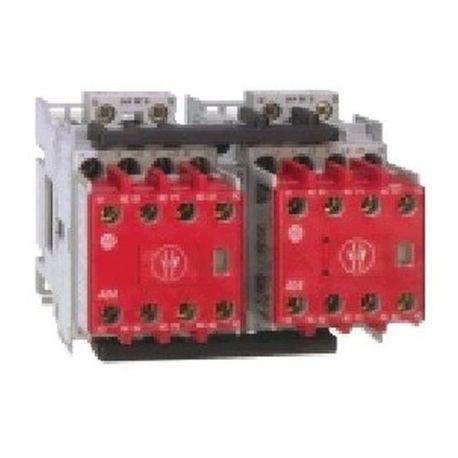 104S-C Safety Reversing Contactors, 23A, Line Side, 24V DC (w/Elec. Coil), 1 N.O. 5 N.C., Bifurcated Contact