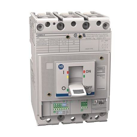 140MG - Motor Protection Circuit Breakers, H frame, 35..65 kA at 480V, Thermal/Magnetic, TMD, Rated Current 100 A