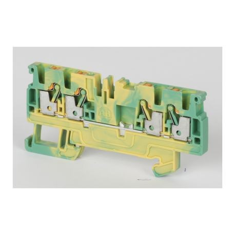 Allen-Bradley 1492-PG3Q 1-Circuit Feed-Through Terminal Block, 600 VAC/VDC, 26 to 12 AWG Wire, DIN Rail Mount