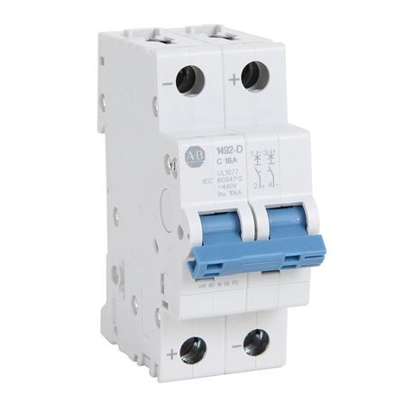1492-D Miniature Circuit Breakers, Trip Curve C, 2-Pole, 20 A