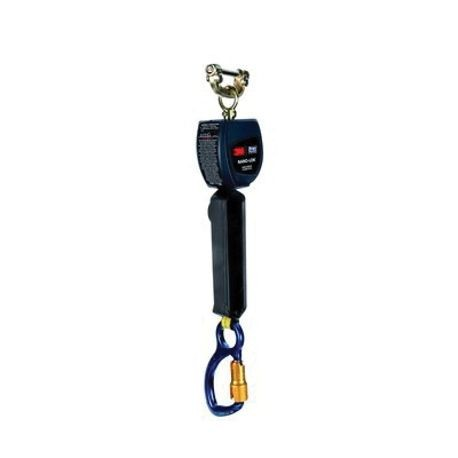 3M DBI-SALA Fall Protection Nano-Lok™ 3101225 Quick-Connect Single Leg Self-Retracting Lifeline With Aluminum Carabiner, 420 lb Load, 6 ft L, Specifications Met: ANSI Class A/B