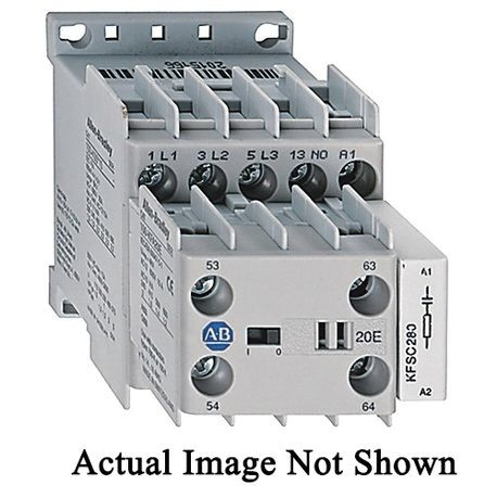 Allen-Bradley 100-KFA13E Auxiliary Contact Block With Screw Terminal, 15 VAC, 2 mA, 4 Contacts
