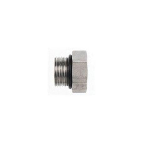 Brennan 6504-16-16 Straight Adapter 1 in Female JIC 37/° Flare x 1 in Male JIC 37/° Flare Steel