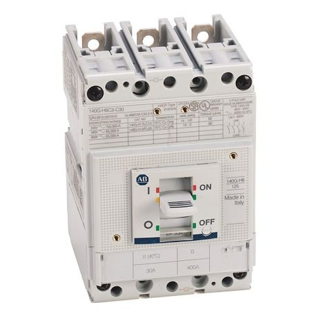 140G - Molded Case Circuit Breaker, H frame, 65 kA, T/M - Thermal Magnetic, Rated Current 25 A