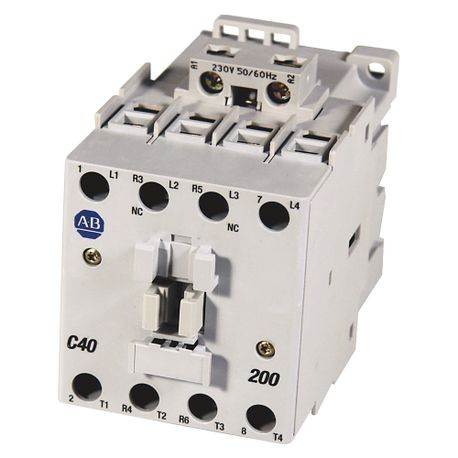 100-C IEC Contactor, Screw Terminals, Line Side, 37A, 2 N.O. 2 N.C. Main Contact Configuration, Single Pack