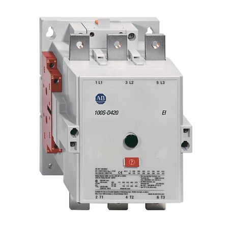 100S-D Safety Contactor, IEC, 420 A, 380-415V 50/60Hz / 440-480V 50/60Hz / 500V 50/60Hz (w/Elec. Coil), 2 N.O. 2 N.C. Gold Plated Bifurcated Contacts Optimized for Low Energy Switching