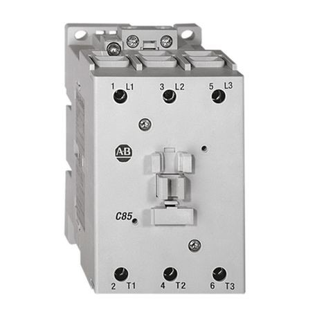 100-C IEC Contactor, 110V 50/60Hz, Screw Terminals, Line Side, 60A, 1 N.O. 0 N.C. Auxiliary Contact Configuration, Single Pack
