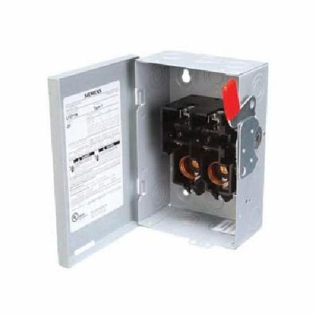 Siemens LF211N LF Series General Duty Low Voltage Circuit Protection Safety Switch, 240 VAC, 30 A, DPST Contact Form, 2 Pole