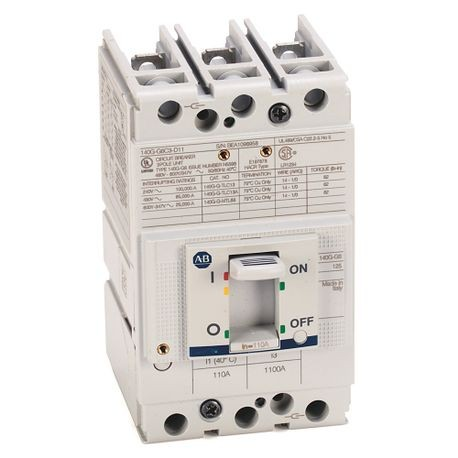 140G - Molded Case Circuit Breaker, G frame, 65 kA, T/M - Thermal Magnetic, Rated Current 110 A