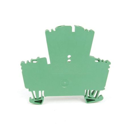 1492-J IEC Terminal Block, Two-Circuit Feed-Through Block, 2.5 mm (# 24 AWG - # 12 AWG), Standard Feedthrough, Green,