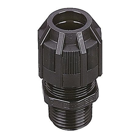ABB Ranger® 2931NM NSG Non-Metallic Strain Relief Liquidtight Connector, 3/4 in Trade, Cable Openings: 0.31 to 0.56 in, Polyamide/Nylon 6.6