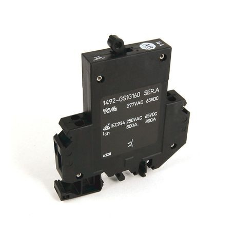 1492-GS Miniature Circuit Breaker, 1-pole, 10.0 A, Optional Auxiliary Contact: Normally Open