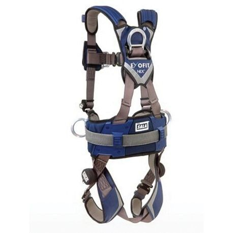 3M DBI-SALA Fall Protection ExoFit™ NEX™ 1113157 Climbing Positioning Harness, L, 420 lb Load, Nylon Strap, Duo-Lok™ Quick-Connect Leg Strap Buckle, Duo-Lok™ Quick-Connect Chest Strap Buckle, Zinc Plated Steel Hardware, Gray