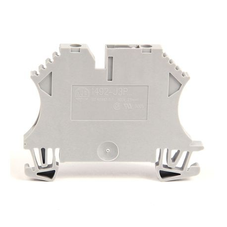 1492-J IEC Terminal Block, One-Circuit Feed-Through Block, 2.5 mm (# 24 AWG - # 12 AWG), Selectable component plug-in device, Gray (Standard),