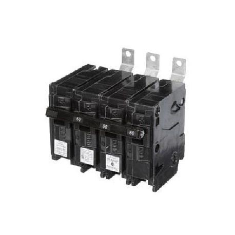 Siemens SpeedFax™ B36000S01 Molded Case Circuit Breaker, 120/240 VAC, 60 A, 10 kA Interrupt, 3 Poles, Thermal Magnetic Trip