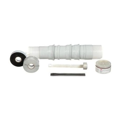 3M™ Quick-Term II™ 054007-12258 Cold Shrink Termination Kit With High-K Stress Relief, For Use With Tape Shield, Wire Shield and UniShield® Power Cables, Silicone Rubber
