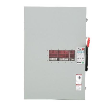 Siemens HNF365JWA Heavy Duty Non-Fusible Safety Switch With Viewing Window, 600 VAC, 400 A, 350 hp, 3 Pole