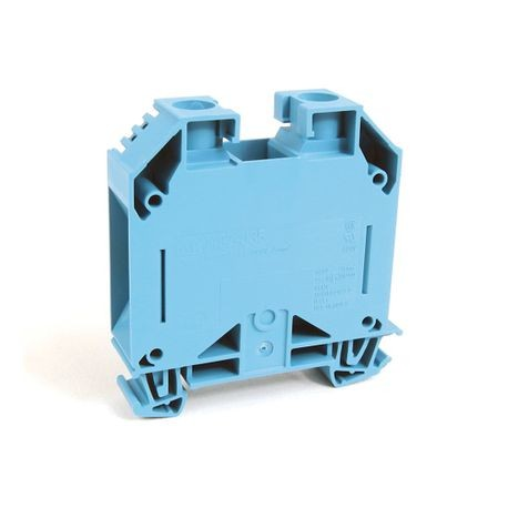 1492-J IEC Terminal Block, One-Circuit Feed-Through Block, 35 mm (# 14 - # 1/0 AWG), Standard Feedthrough, Blue,