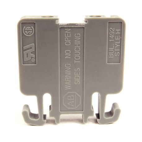 1492-H Finger-Safe Terminal Blocks, H-Block,Code 1,Gray,No Bulk Pack (Single Block)