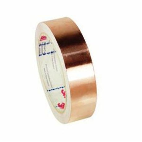 3M™ 054007-27468 1181 Foil Shielding Tape, 18 yd L x 1 in W x 2.6 mil THK, Acrylic Adhesive, Copper Foil Backing