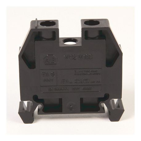 1492-W IEC Terminal Block, Space-Saver Feed-Through Blocks, 16 mm (# 14 AWG - # 4 AWG), Single-circuit terminal block, Black,