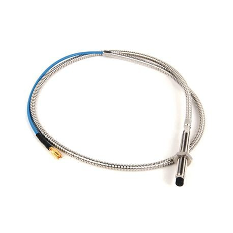 1442 Eddy Current Probe, Standard Mount Probe, 8 mm / 2 mm (80 mils) probe diameter, 70 mm body length, 1 Meter cable length, Armored Cable