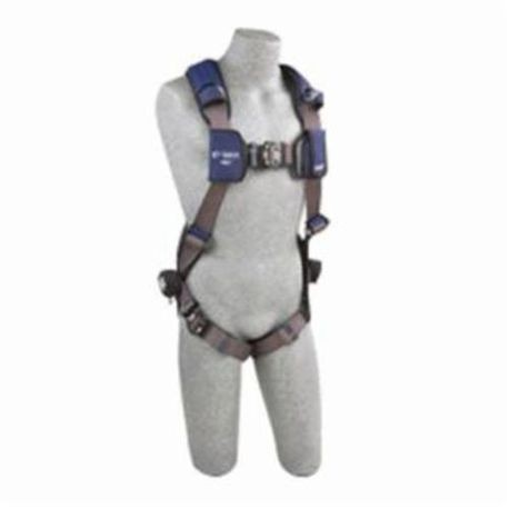 3M DBI-SALA Fall Protection ExoFit™ NEX™ 1113007 Multi-Purpose Harness, L, 420 lb Load, Repel™ Polyester Strap, Duo-Lok™ Quick-Connect Leg Strap Buckle, Duo-Lok™ Quick-Connect Chest Strap Buckle, Aluminum/Steel/Stainless Steel Hardware, Blue